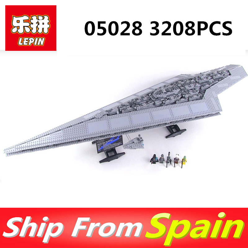 LEPIN 05028 Star Wars Blocks Toy Execytor Super Star Destroyer Model Bluding Block Brick for legoing 10021 Boy Gifts 05028 star wars execytor super star destroyer model building kit mini block brick toy gift compatible 75055 tos lepin