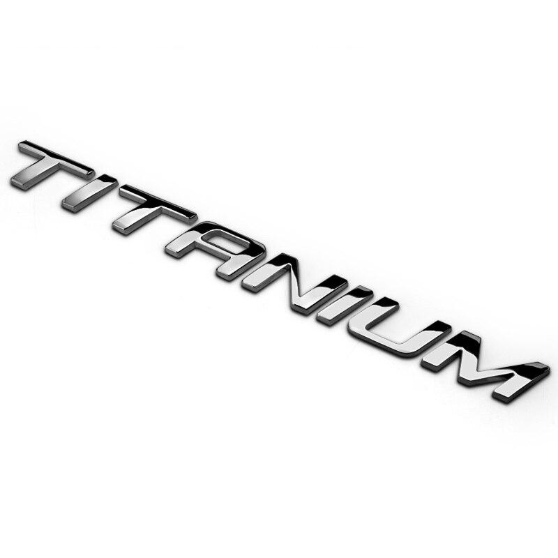 For Ford Focus Mustang Mondeo Kuga Fiesta Edge Everest Explorer Ranger Ecosport Car TITANIUM Emblem Badge Auto Trunk Lid Sticker