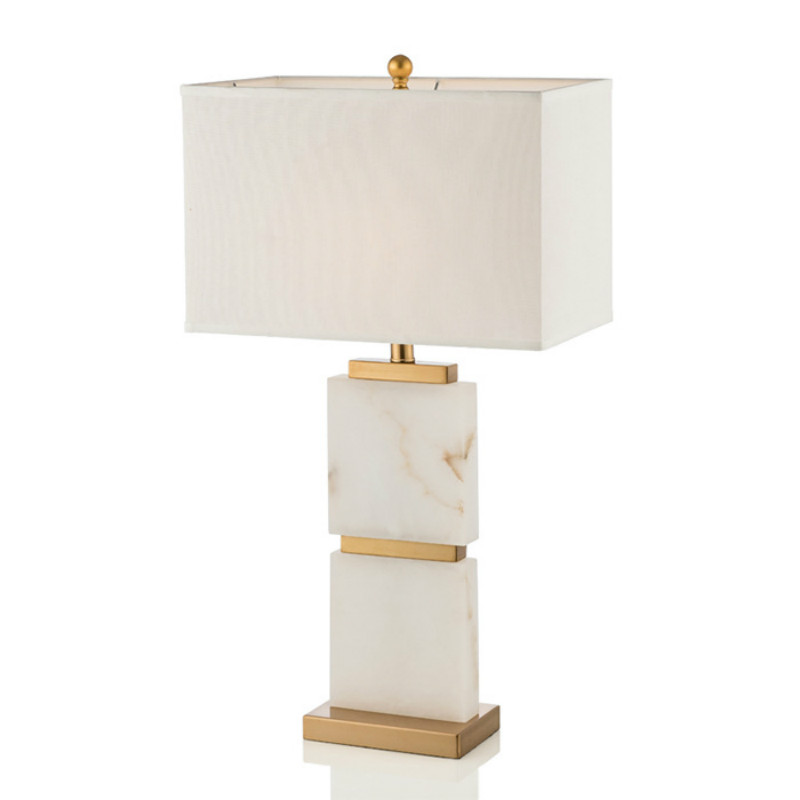 Post modern American Country Marble Metal Led E27 Table Lamp For Living Room Bedroom Study H 72cm Ac 80 265v 1388