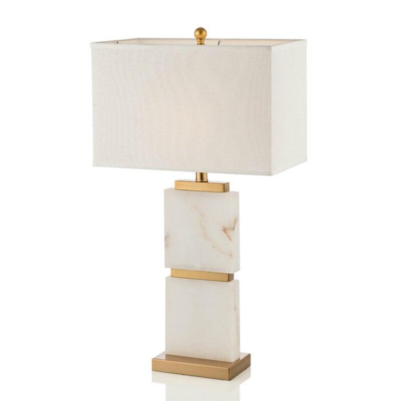 Postmoderní americká mramorová kovová led led E27 stolní lampa pro obývací pokoj Ložnice Studie H 72cm Ac 80-265v 1388