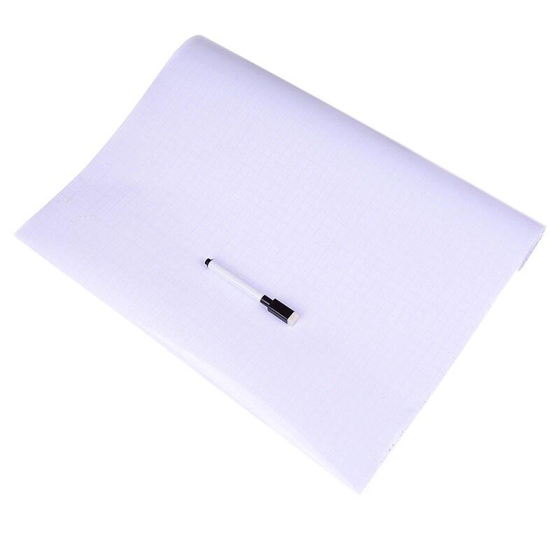 2pcs/set ( 1Pc Whiteboard Wallpaper+1Pc Whiteboard Pen)WhiteBoard Wall Paper Sticker  Office Vinyl Decor Decal 45*100cm
