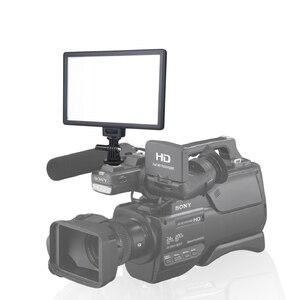 Image 3 - Viltrox L116T lcd ekran iki renkli ve kısılabilir ince DSLR Video led ışık isteğe bağlı pil + AC adaptörü kamera DV kamera için kamera