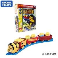 Takara Tomy Disney Dream Railway Plarail Winnie The Pooh Honey Cargo Locomotive Motorized Toy Train New