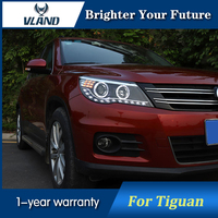 2Pcs Front Lamp For VW Tiguan LED Headlights assembly Bi xenon Lens Projector 2010 2011 2012