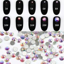 1440PCS/Pack SS3-SS12 Crystal Clear AB Non Hotfix Flatback Rhinestones Nail Nails Accessoires Art Decoration