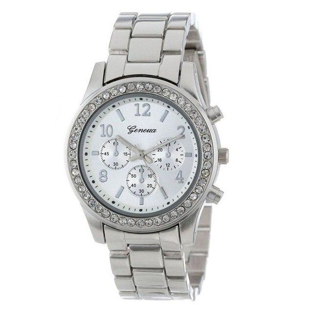 Women's Watches Hot Relogio feminino Faux Chronograph Plated Classic women watch