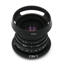 Новый Фуцзянь 35 мм f/1.6 видеонаблюдения II объектив для Sony NEX E-крепление камеры и комплект адаптера
