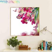 Full Diamond Painting Butterflies Fly In The Water Diy Embroidery Chinese Watercolor Decorate Your Living Room