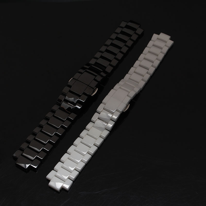 Watchband High quality Ceramic Watch band strap bracelet 22mm black lug 11mm White for mens watch case fashion fit brand style 22mm new watchbands high quality ceramic watchband black diamond watch fit ar1406 man watches bracelet watch strap watchband
