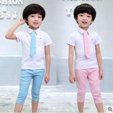Retail! Hot 2016 Children Suits for Boys Brand Kids Summer Weddings Cotton shirt tie + pants with Belt baby suits Free shipping fashion handpainted palm sea sailing pattern hot summer jazz hat for boys