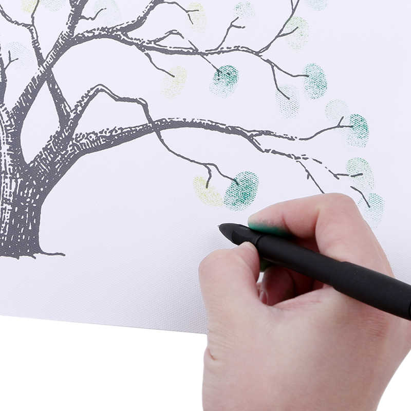 Personalized Canvas Fingerprint Painting Wedding Tree Guest Book  Wedding Gifts DIY Comunion Birthday Party Decorations