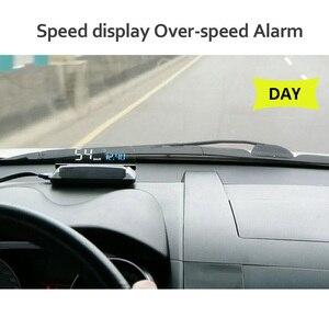 Image 2 - مقياس سرعة للحاسوب من EANOP HUD مزود بشاشة عرض علوي OBD2 ونظام تحديد المواقع العالمي للسيارات مع مراقبة استهلاك زيت KMH KPM