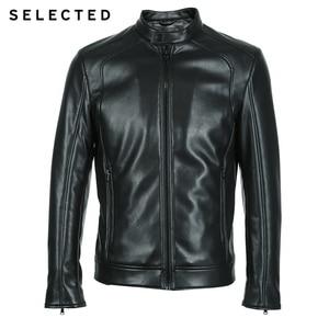 Image 5 - Chaqueta de cuero de cuello alto seleccionada para hombre chaqueta de PU con cremallera S