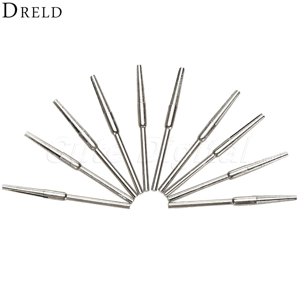 10Pcs Dremel Accessories Split Mandrel Adapter For Sandpaper Miniature Split Tapered Head Mandrel Rotary Tools 2.35mm Shank