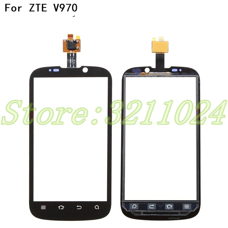 100% Tested 4.3 inches Touch Screen Digitizer For <font><b>ZTE</b></font> X3G V970 <font><b>V970M</b></font> Digitizer Touch Screen Sensor Front Glass +Tools image