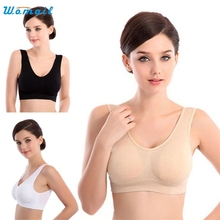 2017 Best Deal  Hot Womens Yoga Sports Bras Female Thin No Mat Athletic Vest Fitness Sports Yoga Stretch Bras Good-looking AU 9