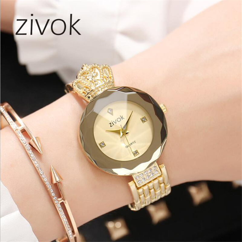 zivok luxe dames armband horloges rose goud mode quartz polshorloge - Dameshorloges - Foto 1