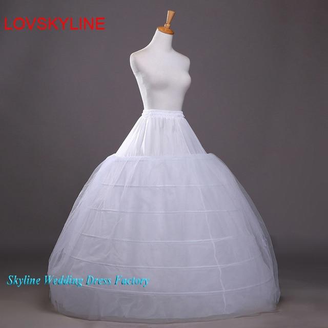8be5013c626ace Gratis Verzending Goedkope 6 Hoop Bruidsjurk Jurk Bruiloft Petticoat  Elegante Onderrok Crinoline