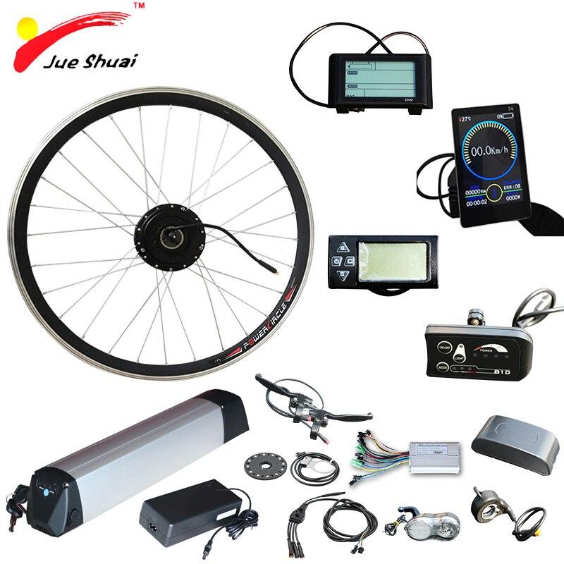 36 V 500 W Ebike Kit de bicicleta eléctrica de la batería 36 V 12ah Kit de conversión para 20 24 26 700C 28 rueda de Motor eléctrico bicicleta electrica