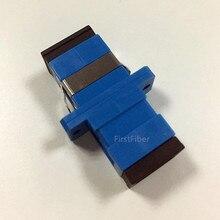 FirstFiber SC/UPC К SC/UPC Simplex одномодовый Пластиковый волоконно-оптический адаптер, волоконно-оптический разъем