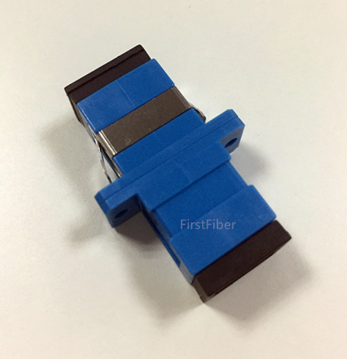 FirstFiber SC/UPC To SC/UPC Simplex Singlemode Plastic Fiber Optic Adapter, Fiber Optic Connector