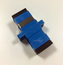 цена на FirstFiber SC/UPC to SC/UPC Simplex Singlemode Plastic Fiber Optic Adapter, Fiber Optic Connector