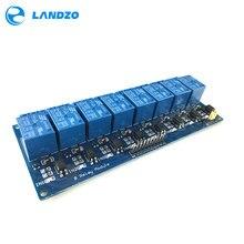 משלוח חינם 5V 8 ערוץ ממסר מודול לוח PIC AVR MCU DSP ARM אלקטרוני הטוב ביותר מחיר 8 ערוץ ממסר מודול