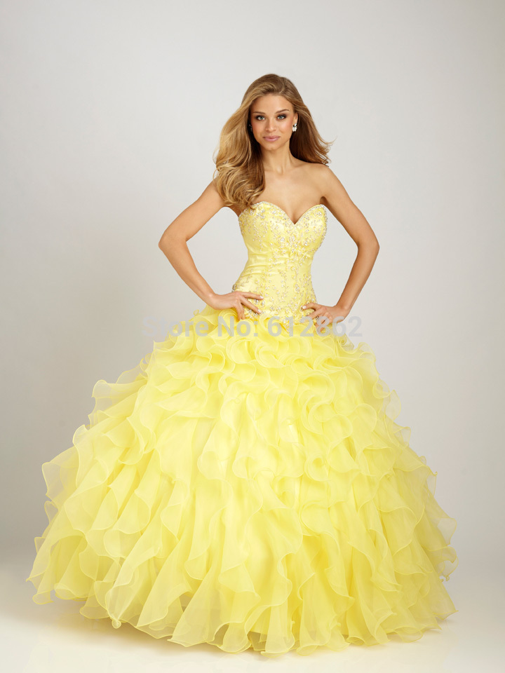 High Quality Yellow Prom Dresses-Buy Cheap Yellow Prom Dresses ...
