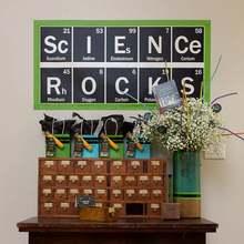 NEW Science Rocks Periodic Vinyl Decal Wall Classroom Teacher Decor Chemistry Dorm Sticker Table Of Elements
