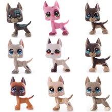 Nuevos juguetes originales de la tienda de mascotas Lps envío gratis marrón Gran Dane colección de gatos de pelo corto simulación Cosplay regalo para niños