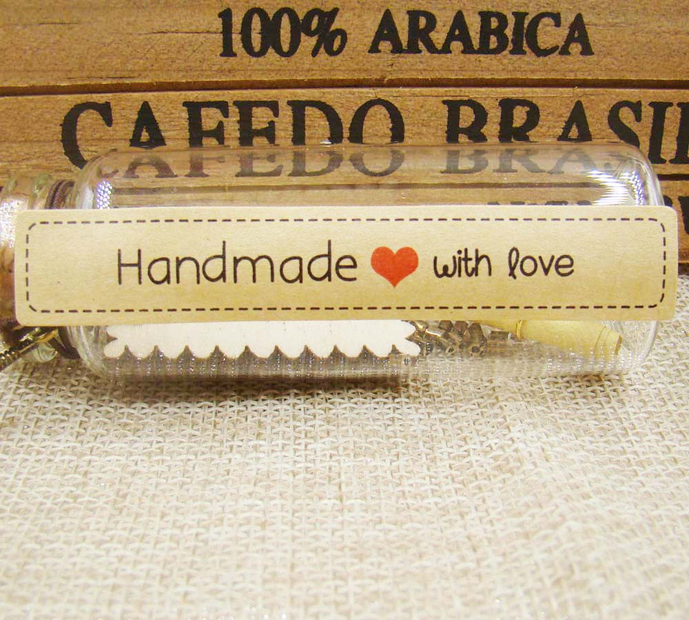 New 120pcs Seal Label HandMade with love Kraft seal Sticker Gift Seal Label Paper Sticke ...