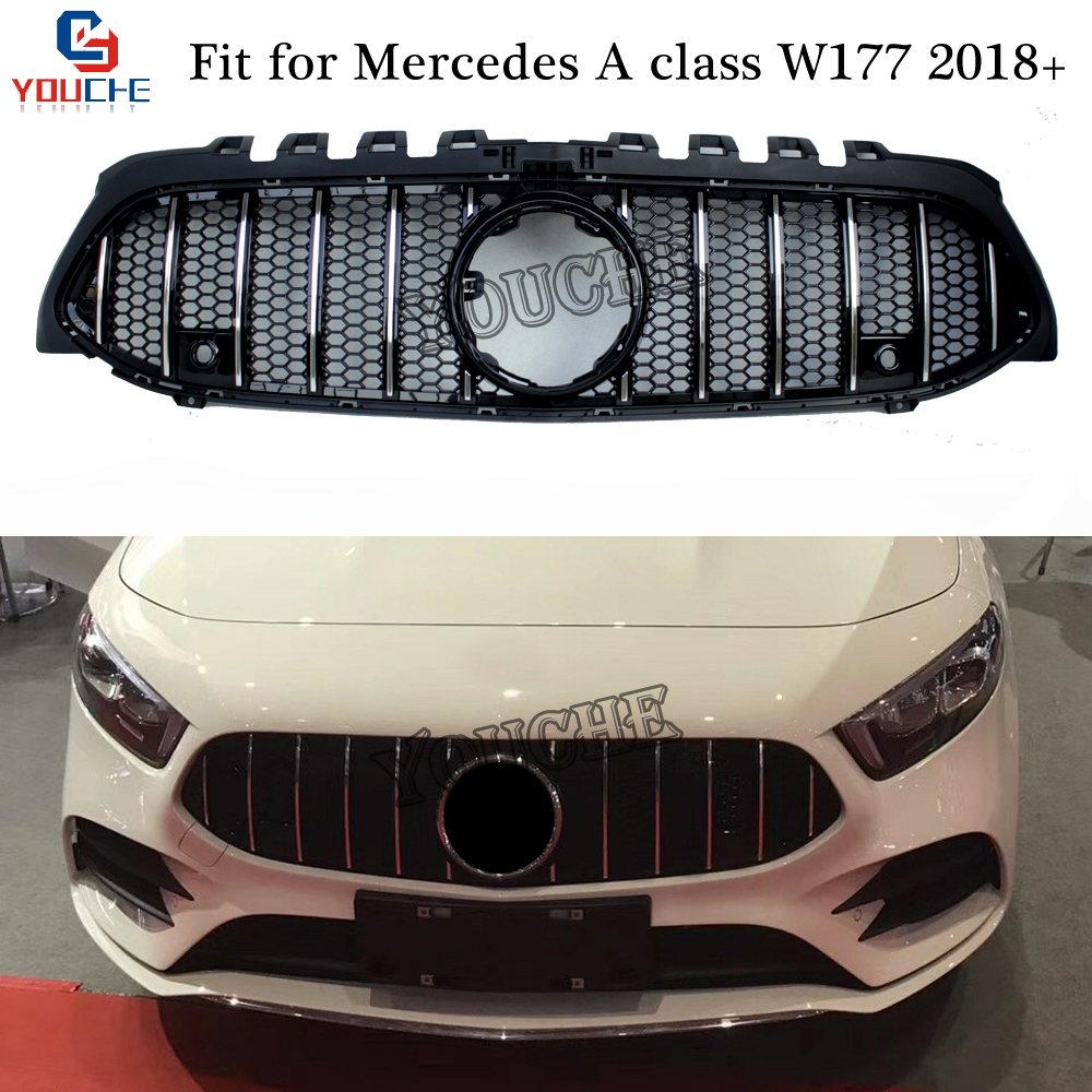 New A Class W177 Front Bumper Grille Mesh for Mercedes W177 A180 A200 A250 A45 AMG