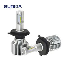 цена на 2x SUNKIA V1 Car LED Headlight H4 Hi/Lo Beam 36w 4000LM High Bright Car Styling 11-30V DC Waterproof 6000k Auto LED Headlamp