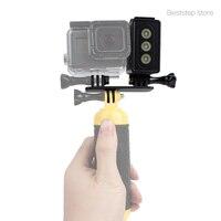 פעולה אבזר מצלמה פלאש LED וידאו אור מנורת פנס צלילה עמיד למים 30 M לgopro, SJCAM SJ4000 Xiaomi יי, AEE צלילה