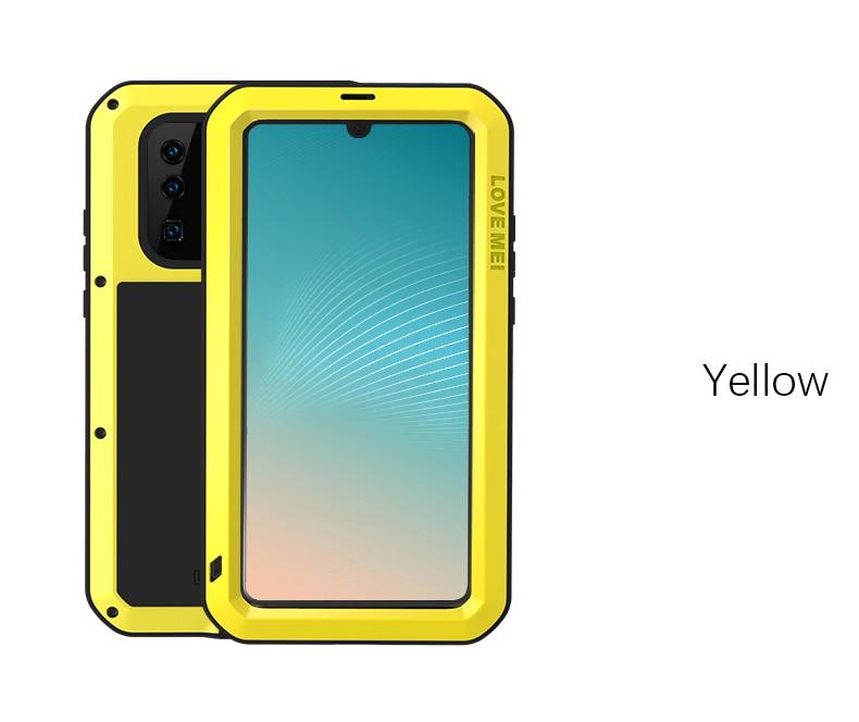 AMOUR MEI Métal Étanche étui pour Huawei P30 pro Antichoc Couverture Pour Huawei P30 Pro Cas En Aluminium Protection P30 pro - 5