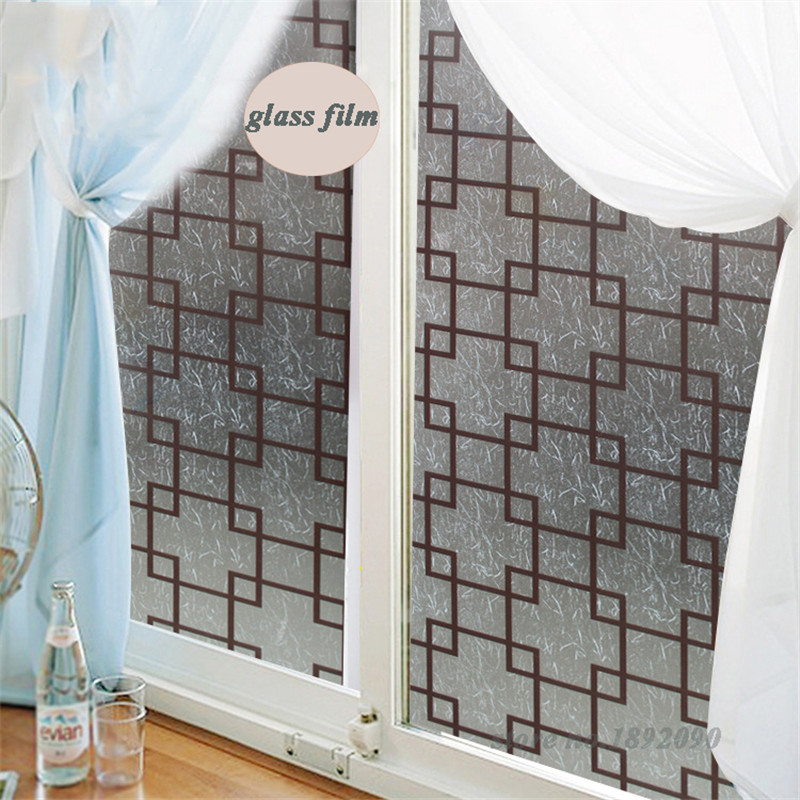 Hot sale 90200cm 35 478 8 frosted self adhesive privacy glass window film home decor opaque window stickers bedroom cz001 in decorative films from home
