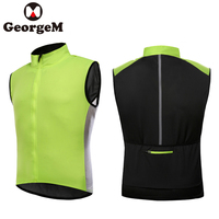 GEORGEM 2018 Hot Ciclismo Reflective Vest Sleeveless Windproof Cycling Jackets MTB Road Bike Clothing Wind Coat Running Jackets
