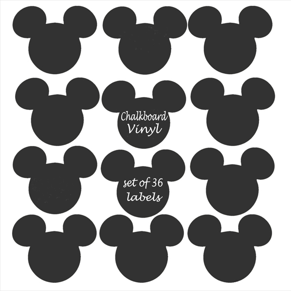 18 pcs Mickey Mouse Chalkboard Vinyl decal Labels signs,removable blackboard stickers nursery