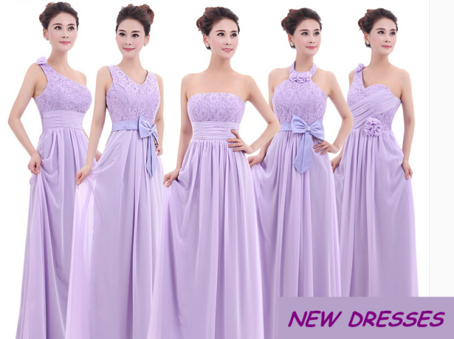 Purple Lavender Lace Chiffon Bridesmaid Dresses 2017 Wedding Dress Under 50 Maid Of Honor
