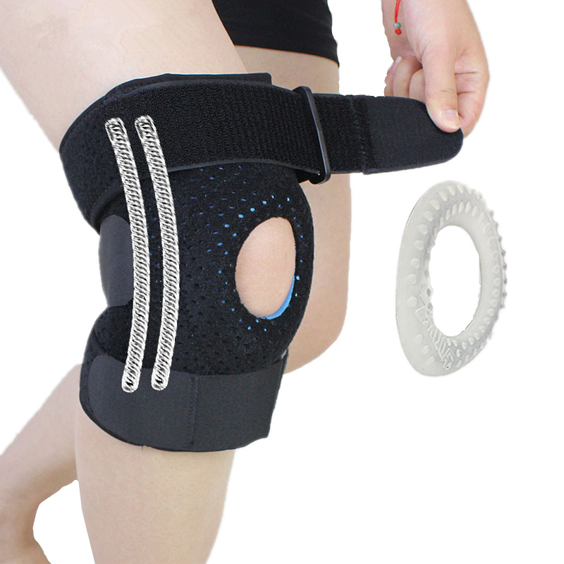 1 stücke Meniskus Knieschützer Silikagel Knieschützer Wandern Laufen Basketball Knie Unterstützung Atmungsaktive Sport Knieschützer
