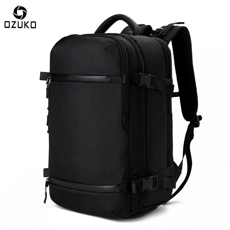 OZUKO New Men's Backpack 17.3Inch Laptop Backpack School bag Large Capacity Travel Backpack Multi-functional Casual Male Mochila ozuko multi functional men backpack waterproof usb charge computer backpacks 15inch laptop bag creative student school bags 2018