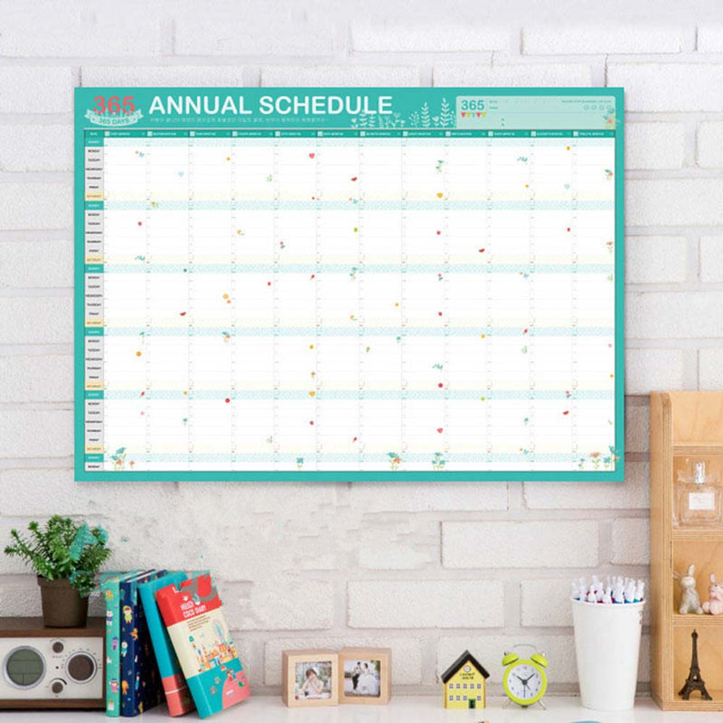 Calendar Book Annual Schedule Agenda Plan Book Planners School Office Supplies Timetable Learning Working Plan Table Notice