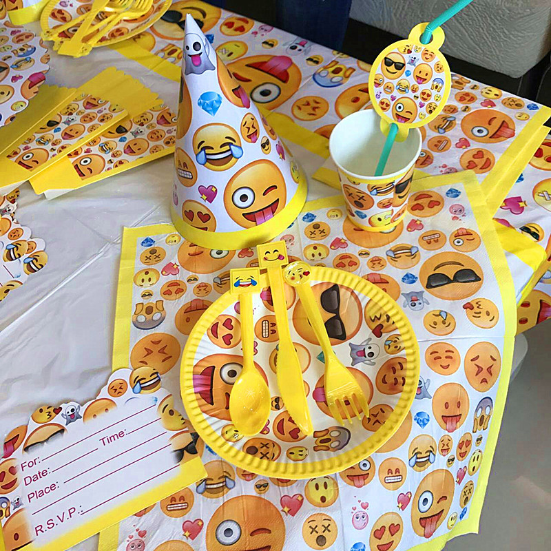 Buy Emoji 78Pcs Set Birthday Party Outdoor Decoration