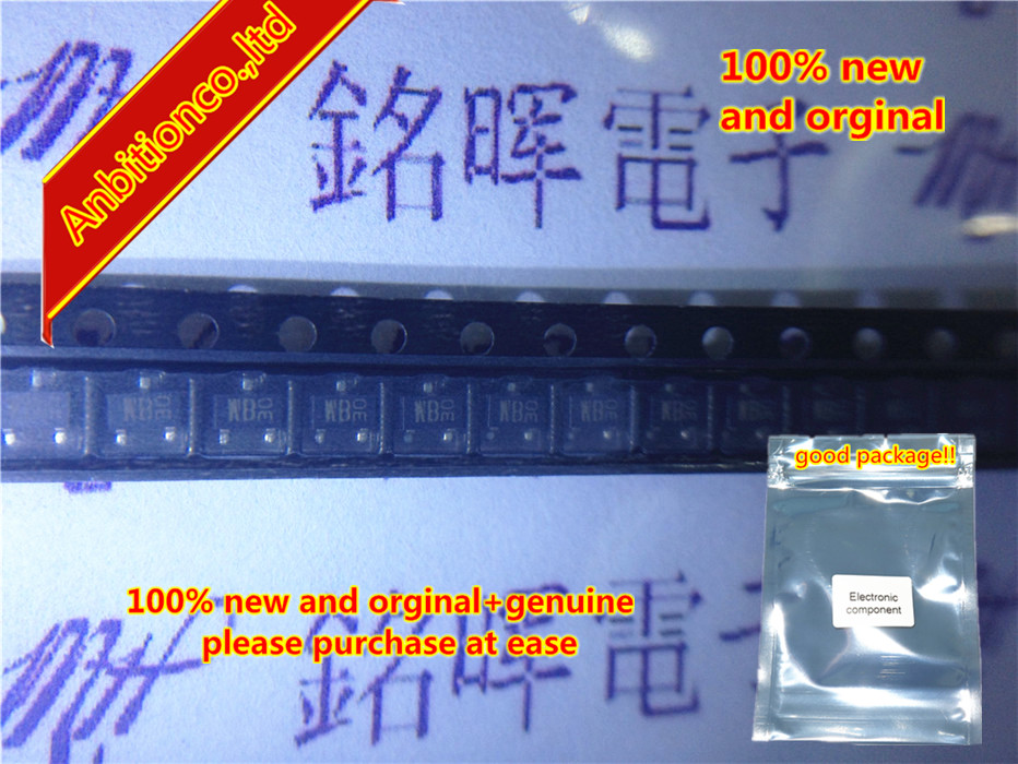 20pcs 100% New And Orginal 2SD1383K Silk-screen WB SOT-23 In Stock