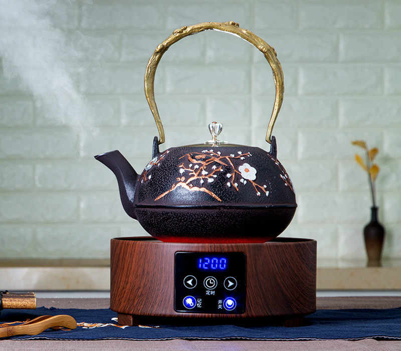 لوحات الساخنة البسيطة الصامتة الكهربائية السيراميك فرن الشاي موقد المنزلية الصغيرة المغلي فرن الزجاج وعاء الغليان وعاء.