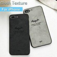 Роскошный тканевый фрабический кожаный чехол для телефона для iPhone X 10 XS 7 8 6 6S Plus силиконовый мягкий задний Чехол s для iPhone XR XS Max Capas
