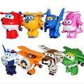Alas súper Mini Avión Jet ABS Transformación Robot juguetes Figuras de Acción Super Ala Animación Niños Kids Brinquedos Regalo