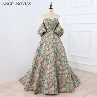 Long Luxury High End Custom Arabic Ball Gown Evening Dress 2019 Abendkleider ANGEL NOVIAS Robe Rouge Longue Plus Size Gown