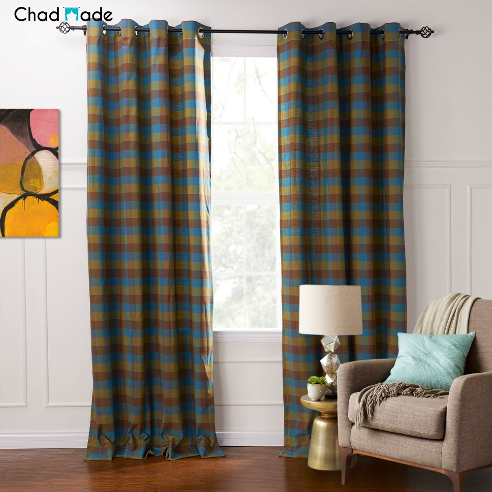 living room panel curtains chadmade 1 panel european style blackout lined 15500