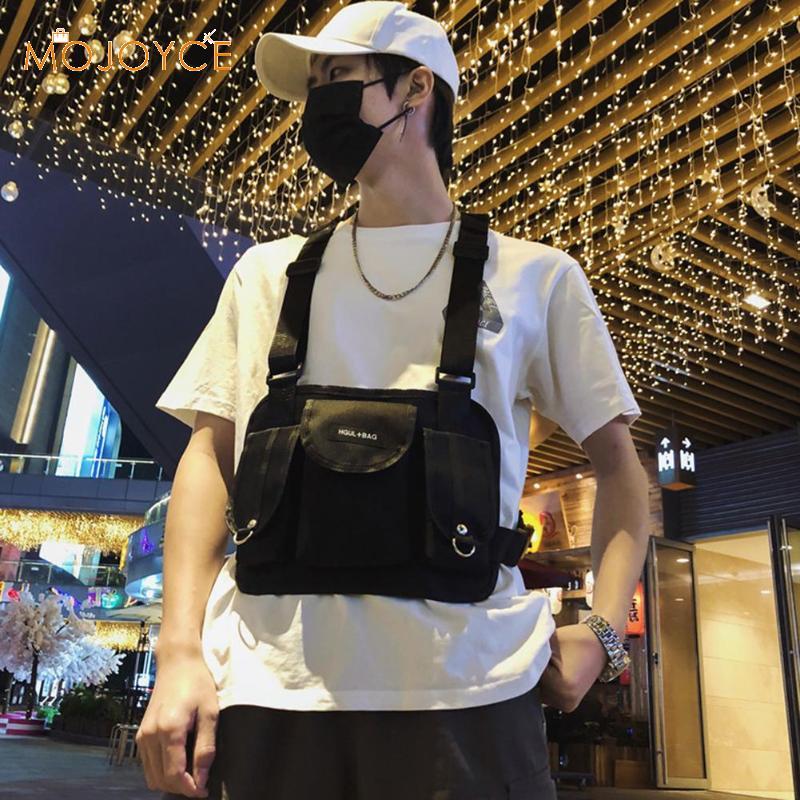 Hip Hop Lattice Waist Belt Pack Casual Women Men Sports Vest Chest Rig Bags Plaid Chest Bag For Men Kanye West Hip Hop Bum Bag